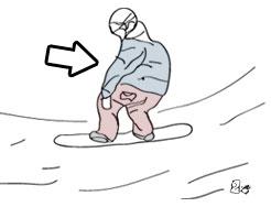 cum faci frontside 180 pe snowboard, pasul 2