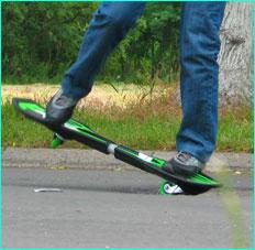 waveboard   streetsurfing nose manual