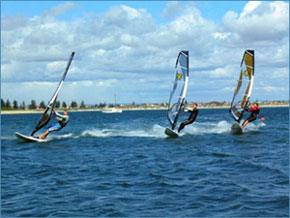 windsurfing team