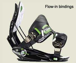 flow-in bindings | legatui snowboard