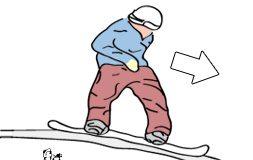 cum faci 50-50 pe snowboard, pasul 4
