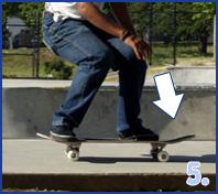 ollie pe skateboard