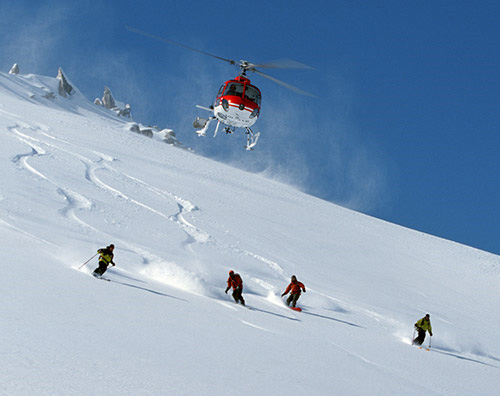 Heli ski in romania