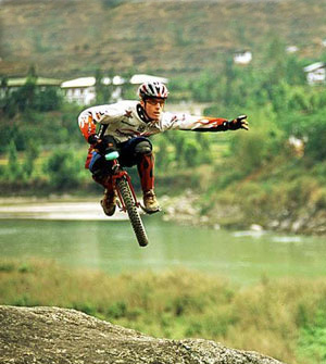 sport extrem pe unicycle