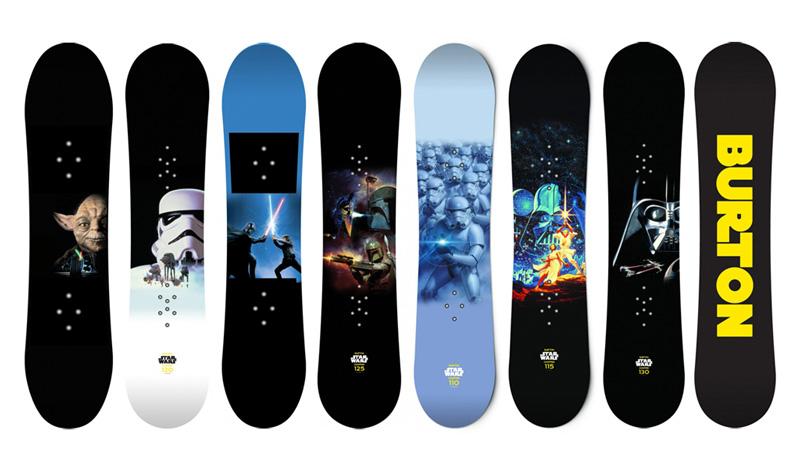 Star Wars snowboards from Burton