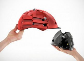 The folding bike helmet