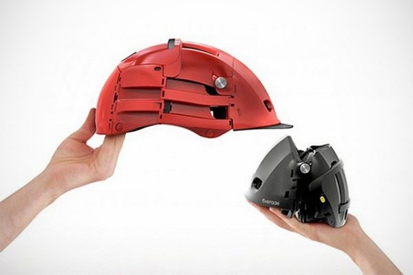 The folding bike helmet