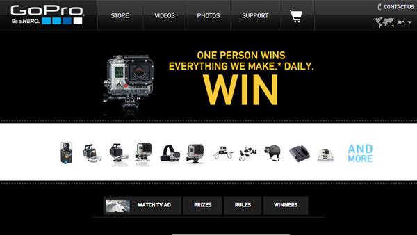 Castiga zilnic o camera GoPro sau accesorii | Concurs