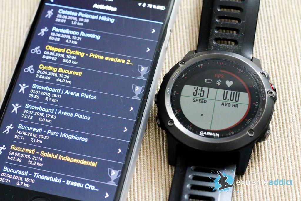 SmartWatch Garmin Fenix 3 | activitati