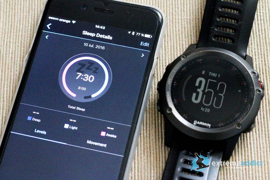 SmartWatch Garmin Fenix 3 | monitorizare somn